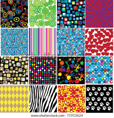 vector different patterns - stock vector