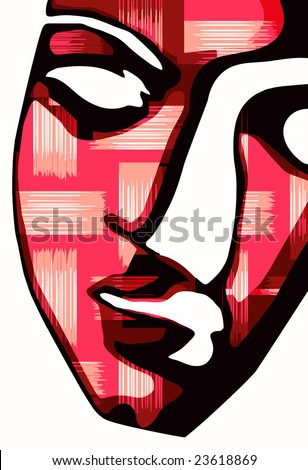 vector - digital mask - stock vector