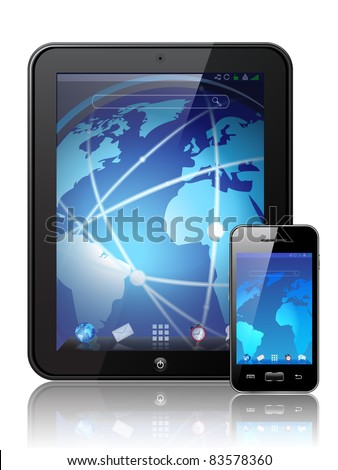 Vector digital tablet - stock vector
