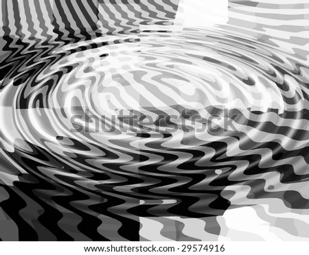 vector - digital water ripples - stock vector