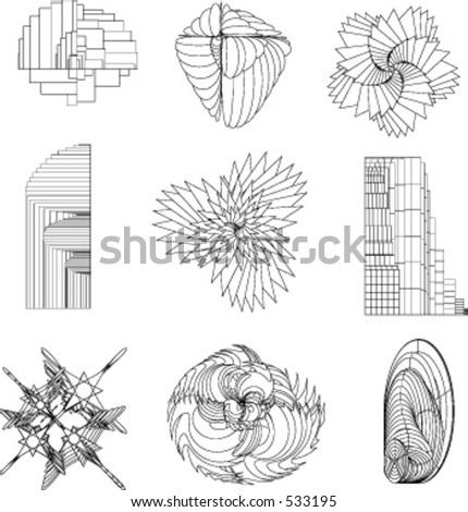 Vector Dimensions. This is part 5 of this collection - stock vector