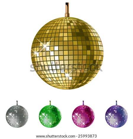 vector disco balls - stock vector