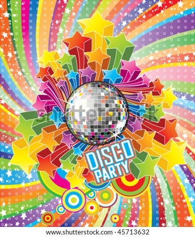Vector Disco Party Illustration - stock vector