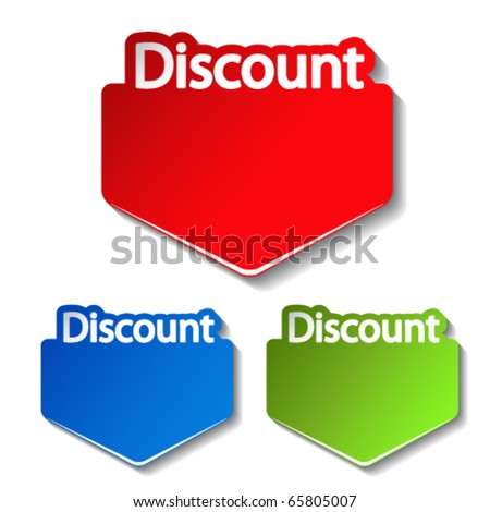 Vector discount label - stock vector