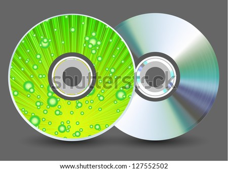 Vector disk on gray background. Eps10 - stock vector