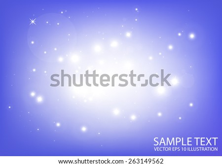 Vector distant space purple background  illustration - Vector abstract purple shiny background template - stock vector