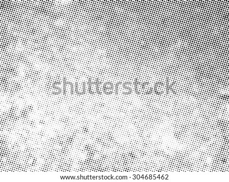 Vector Distressed Halftone Pattern . - stock vector
