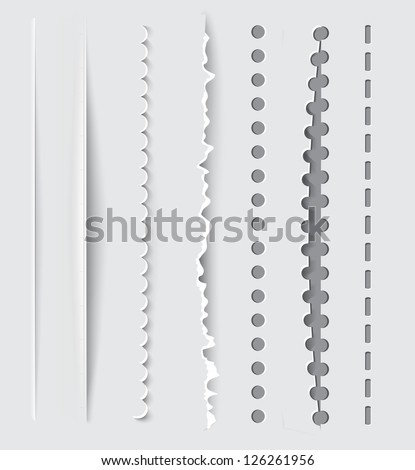 Vector dividers and vertical rules for design. - stock vector