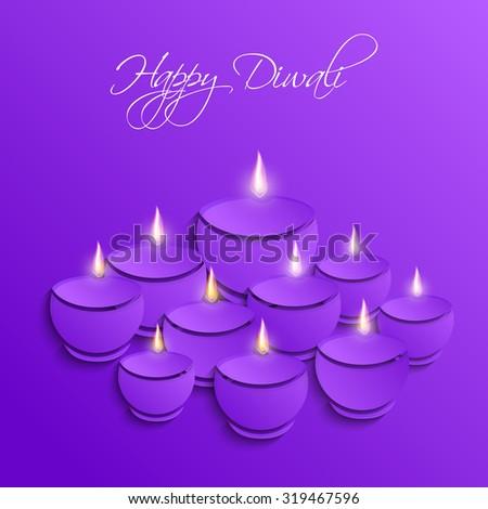 Vector Diwali Diya - stock vector