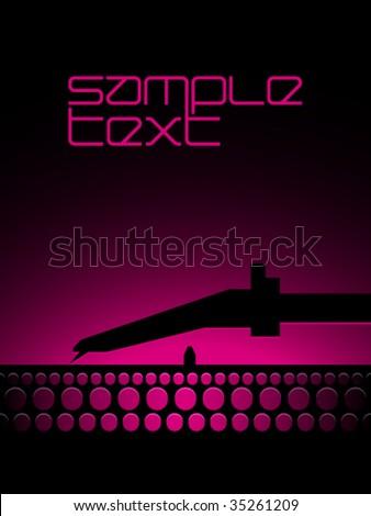Vector DJ Pickup - stock vector