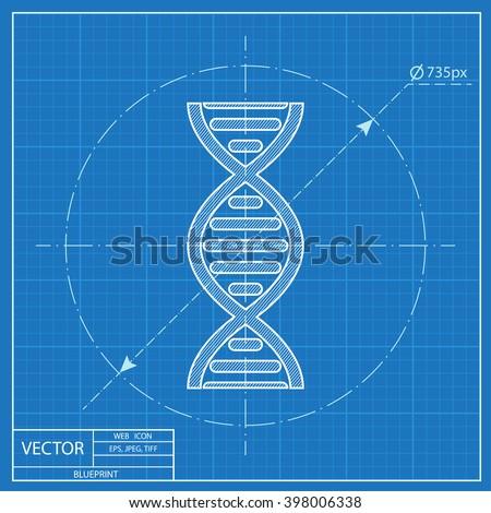 Vector dna molecule blueprint icon stock vector 398006338 vector dna molecule blueprint icon malvernweather Choice Image