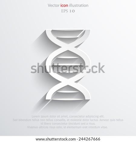 Vector DNA web icon Eps10. - stock vector