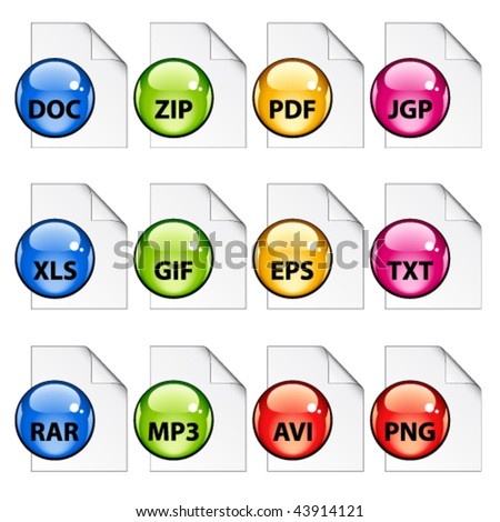 vector document icons - stock vector