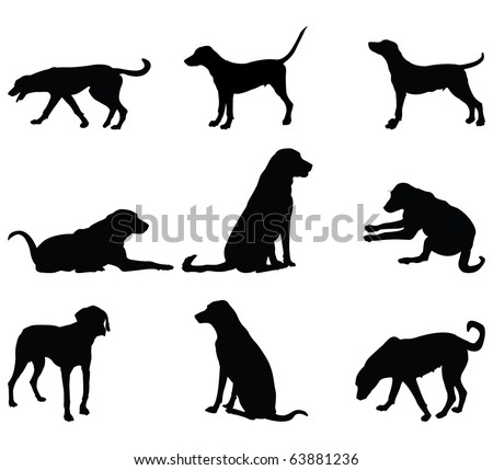 Vector dog silhouette