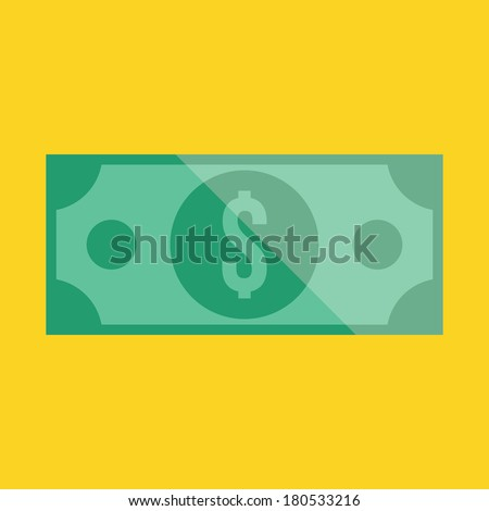 Vector Dollar Bill Icon - stock vector