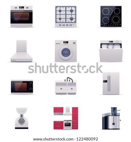 Vector domestic appliances set. Part 1 - stock vector