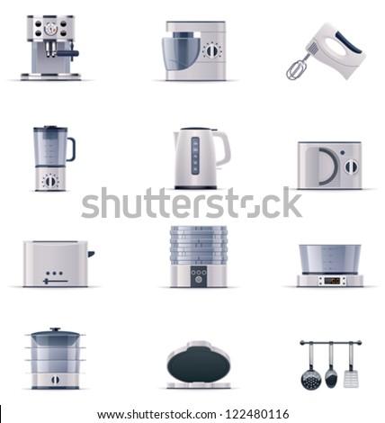 Vector domestic appliances set. Part 2 - stock vector