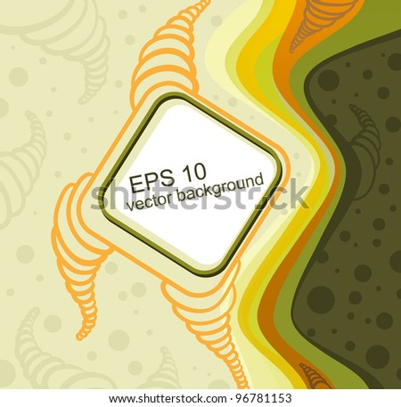 vector doodle background with space for text - stock vector