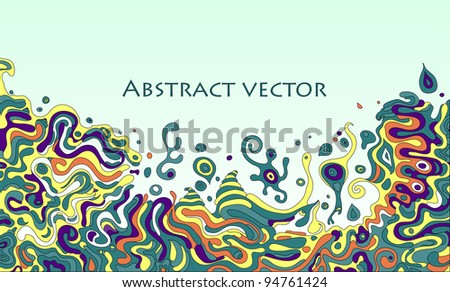 vector doodle background with space for your text - stock vector