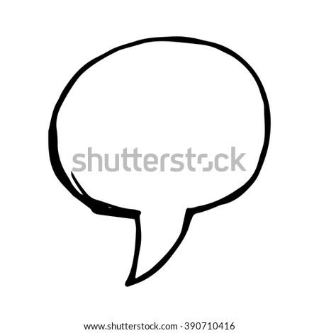Vector doodle speech bubble - stock vector