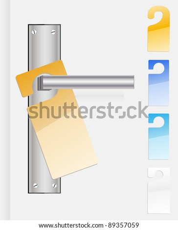 Vector door labels - stock vector