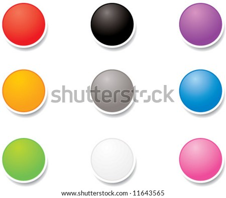 vector dots with shadows - great design element! - stock vector
