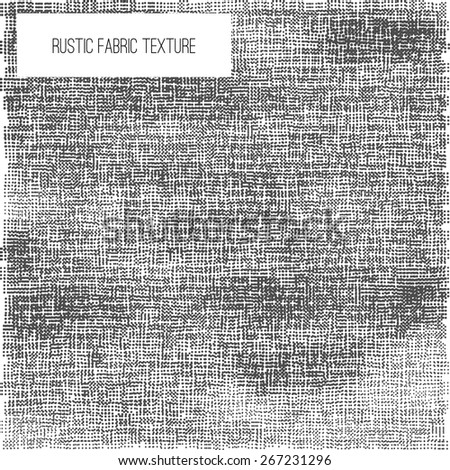 Vector dotted Fabric rustic texture - half tone effect for your design. EPS10. - stock vector