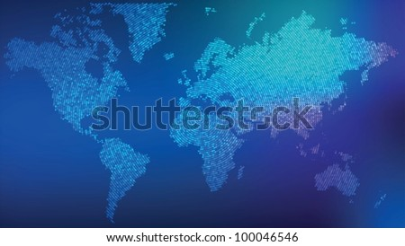 Vector dotted world map illustration, eps 10 - stock vector