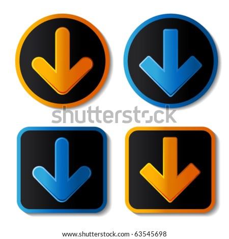 Vector download banners - stock vector