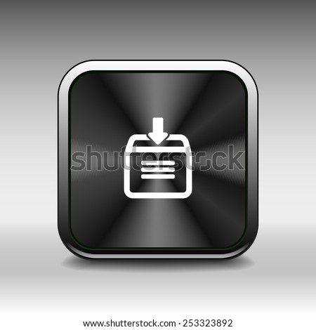 Vector download to hdd icon. business arrow sign symbol internet - stock vector