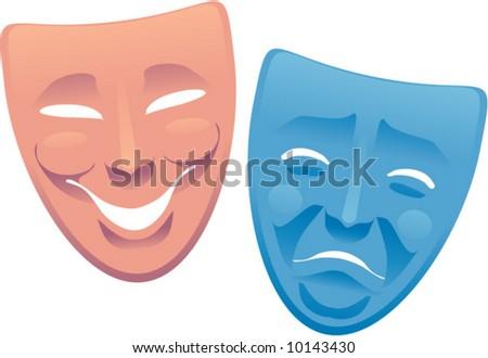 vector drama masks - stock vector
