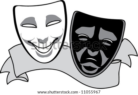 vector drama masks - stock vector