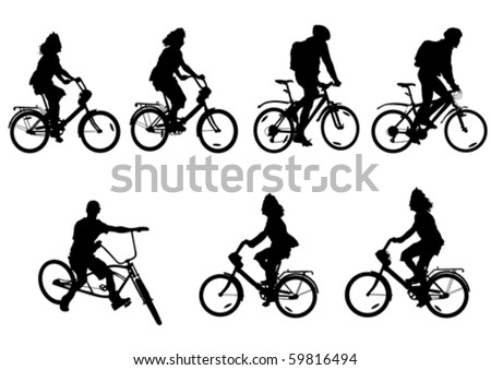 Vector drawing bicycle races leisure