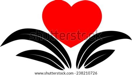 Line Drawing Heart Shape : Drawing flower stock vector shutterstock