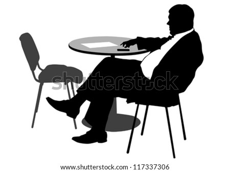 Vector drawing of a man in a business suit