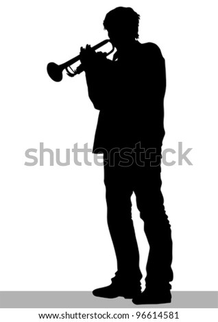 Vector drawing of a man with a pipe