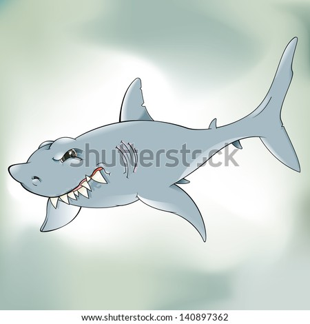Vector drawing of a shark/ Shark/ Vector drawing of a shark, easy to edit file, easy to edit layers, isolated grouped file