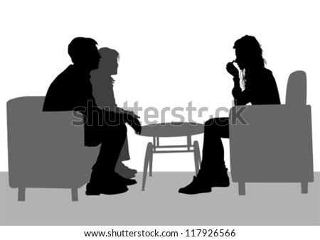 Vector drawing of people talking in their seats - stock vector