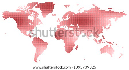 Vector drawing tetragon world map vector stock photo photo vector vector drawing of tetragon world map vector red on white gumiabroncs Image collections