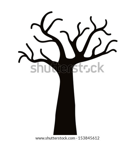 Vector drawing of the tree - stock vector