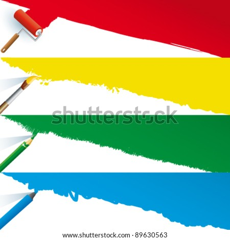 Vector drawing tools - stock vector