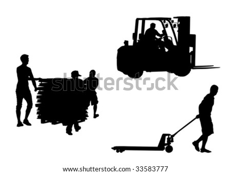 Vector drawing tools for the movement of goods - stock vector