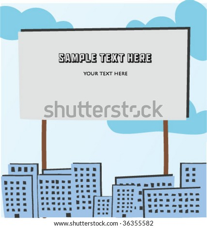 vector drawing town - stock vector