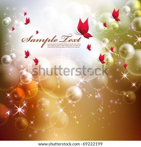 Vector Dreamy Bubbles - stock vector
