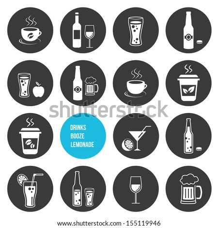 Vector Drinks Icons Set