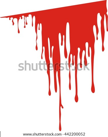 Vector dripping blood. Blood liquid, vector illustration