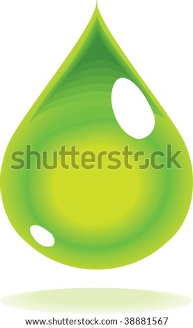 vector drop of green ethanol or biofuel - stock vector