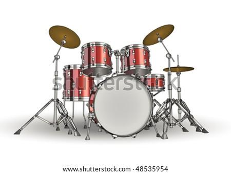 Vector drums - stock vector