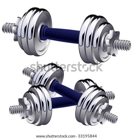 Vector dumbbells. - stock vector
