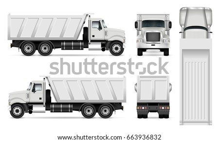 truck trailer container vector template car 489150700 shutterstock. Black Bedroom Furniture Sets. Home Design Ideas